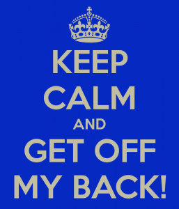 Get Off My Back