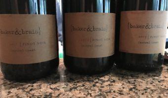 Three Pinot Noirs from Baker & Brain