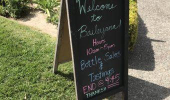 Wine Tasting: Baileyana in San Luis Obispo