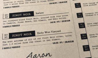 Paso Robles Wine: Aaron Wines
